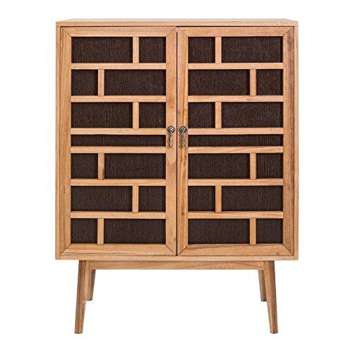 Rebecca Mobili Aparador marrón, Muebles para el salón, 2 Puertas, Madera marrón, Estilo contemporáneo - Medidas: x 120 x 90 x 45 cm (AxANxF) - Art. RE4805