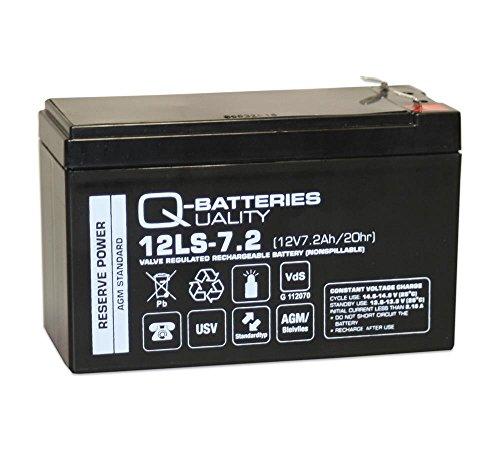 Q-Batteries 12LS-7.2 F1 12V 7,2Ah Blei-Vlies-Akku AGM VRLA mit VDs