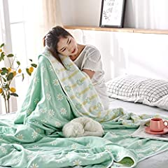 SKIN-FRIENDLY FABRIC:100% cotton, choose the skin-friendly 40-stock all-cotton fabric, light, and breathable double-side is available, each contact is a soft and comfortable new experience. WARM CARE:6 layers of skin-friendly cotton gauze, can be use...