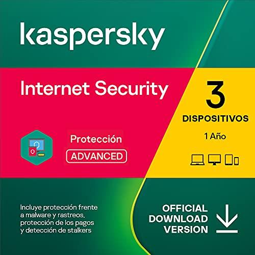 Kaspersky Internet Security 2022 | 3 Dispositivos | 1 Año | PC / Mac / Android | Código de activación enviado por email