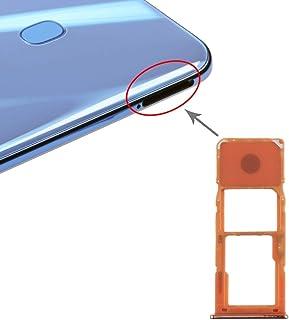 GXX Lin SIM Card Tray + Micro SD Card Tray for Galaxy A20 A30 A50 (Black) (Color : Orange)