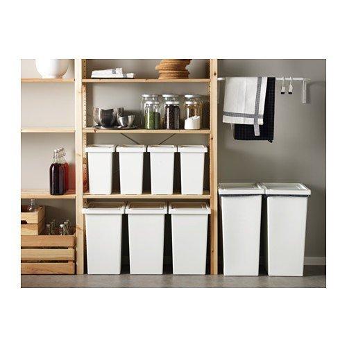 IKEA Filur - Papelera con tapa, blanco - 10 l: Amazon.es: Hogar