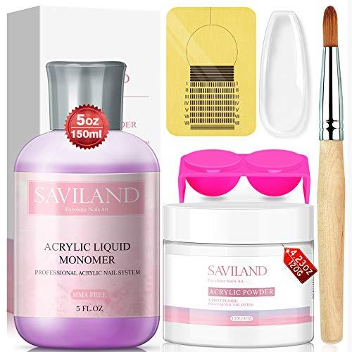 Saviland Acrylic Nail Set - Acrylic Nail Kit with 150ml Professional...