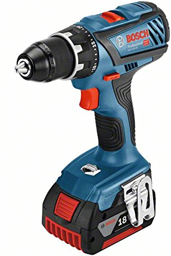 Bosch Professional 06019H4101 perceuse-Visseuse sans-Fil GSR 18 V-28 (2 Batteries 5,0 Ah, 18 V, ∅ de Vissage Maxi : 8 mm, L-BOXX) 9Noir/bleu/rouge 8 mm 1