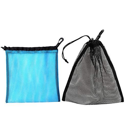 Hellery 2X Bolsa de Malla con Cordón para Golf Pelotas de Tenis Gimnasio Juguetes para Lavar Natación Equipo de Buceo