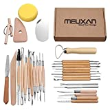 Meuxan 30PCS Pottery Tools Clay Sculpting Tool Set...
