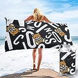 vfrtg Moschino Underbear Asciugamani-Nuotatori Asciugamano Super Assorbente Leggero Asciugamano da Spiaggia ad Asciugatura Rapida per Campeggio, Escursionismo e Uso Domestico