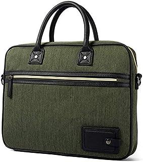 Men's Messenger Bag Portable Waterproof Oxford Cloth Computer Laptop Bag Briefcase Cover Black Casual Vintage Style (Color : Dark Blue) Elise (Color : Green)