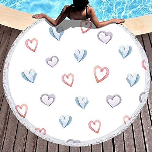 Amore cuori – Telo da spiaggia, telo da picnic, telo da spiaggia, asciugamano da bagno,...