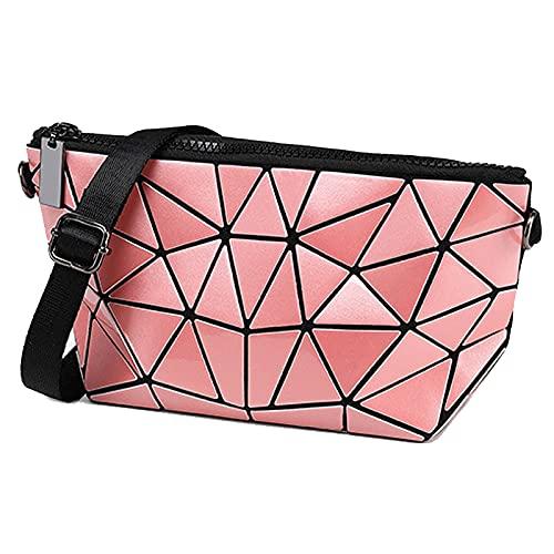 QIANJINGCQ Moda todo-fósforo personalidad bolsos de hombro diagonales simple bolso cuadrado pequeño diseño de nicho bolso de cadena de temperamento geométrico rómbico