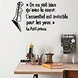 pegatinas de pared tortugas ninja French On Ne Voit Bien Qu'Avec Le Coeur L'Essentiel Est Invisible Pour Les Yeux Le Petit Prince For Nursery Kids Room Home Decor