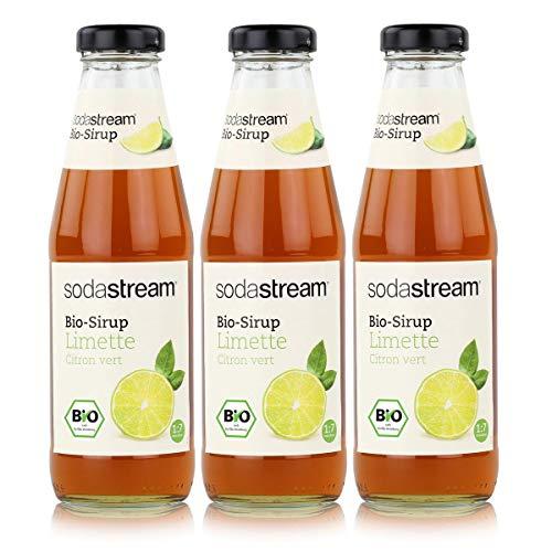 SodaStream Getränke-Bio-Sirup Limette Geschmack 500ml (3er Pack)