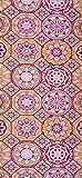 Alfombra de Pasillo de Poliester | Base PVC Antideslizante y Aislante Diseño Mandala Flores Geometricas (66_x_200_cm)
