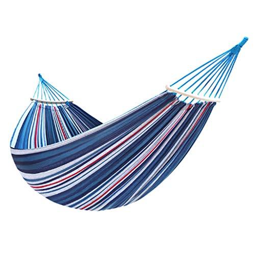 Hangmat voor binnen, draagbaar, camping buiten, stoel reizen, boog, strepen, houten stok, schommel voor tuin, vrije tijd, hangmat 190x100cm Een