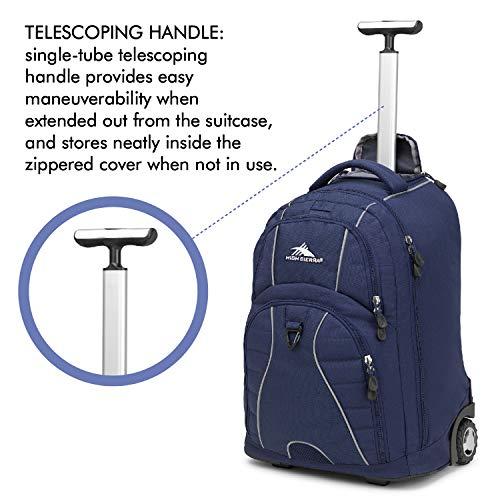 High Sierra Freewheel Wheeled Laptop Backpack, True Navy, 20.5 x 13.5 x 8-Inch