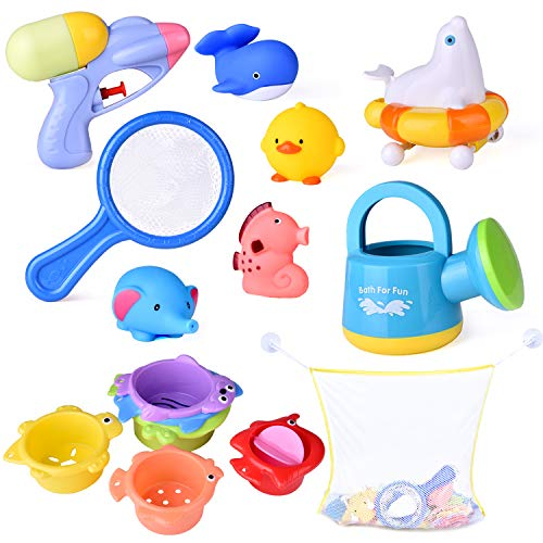 Squirters and Bath Toys is a fun set of bath toys to keep toddlers busy in the bath tub.
