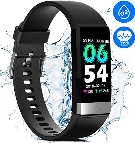 Waterproof Fitness Tracker for Women Men,1.14'' HD Screen SpO2 Health Watch with Heart Rate Blood Pressure HRV Monitor, Activity Tracker with Blood Oxygen Sleep Pedometer for ios Android Phones