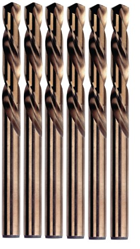 Irwin Tools 30508 1/8-Inch Cobalt 135-Degree, Left Handed-Mechanics Length, Pack of 6