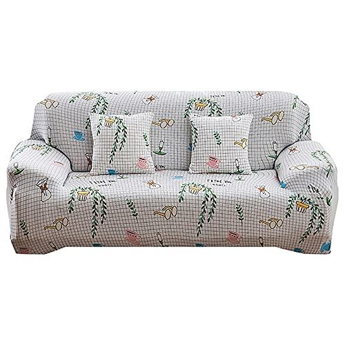 ASCV Funda de sofá para el hogar para Sala de Estar Fundas ElasticCouch Funda de sofá de tamaño estándar seccional con Todo Incluido Funda de sofá 1/2/3/4 Asiento A9 1 Plaza