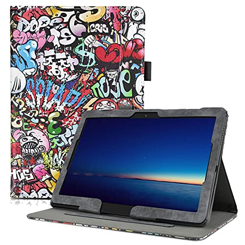 KATUMO Hülle für Lenovo P10/M10 10.1 Zoll Hülle Klappetui mit Dokumentschlitze Lenovo TB-X605F/TB-X505F Schutzhülle Cover