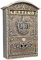 ヨーロッパスタイルのレトロクリエイティブホームデコレーションアイアンアートブロンズメールボックスの壁掛けレターボックスポストボックスレターボックス