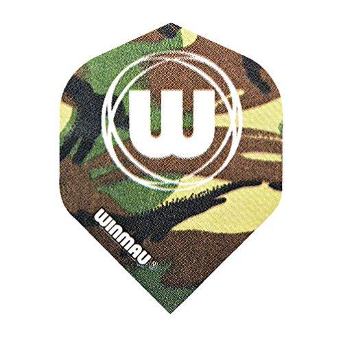 WINMAU Mega Standard Green Camouflage Dart Flights - 1 Set per Pack (3 Flights in Total)