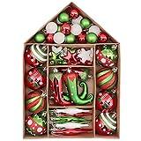 Victor's Workshop Addobbi Natalizi 70 Pezzi di Addobbi Natalizi per Albero, 3-8 cm Delizioso Elfo Infrangibile Ornamenti di Palla di Natale Decorazione per la Decorazione Dell'Albero di Natale