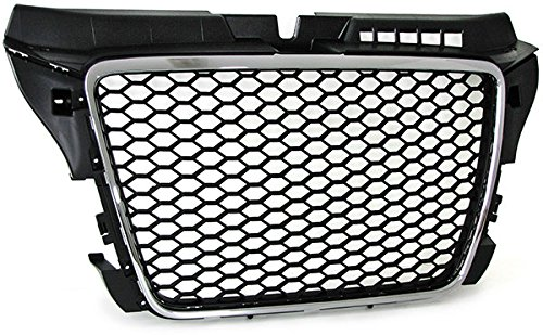 Carparts-Online 22337 Sport honingraatgrill radiator grill zwart chroom