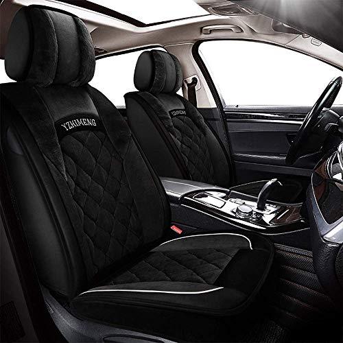 KBZW Auto Stoelhoezen 5 Zittingen Volledige Set Universele Compatibele Airbags Voor & Ademend Comfort Korte Knuffel Kussen