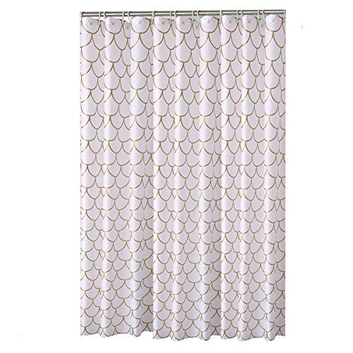 mildew-free water-repellent tende da doccia per bagno in poliestere lavabile 180x 180cm Simple Golden mesh modello no Odor Heavy bordo rinforzato da Pinzz