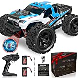 Remote Control Truck for Boys 45KM/H 1:18 Scale RC Truck 4WD All Terrain Off Road Fast RC Car with 2 Rechargeable1200mAh Batteries for 60 Min Run Time, 2.4Ghz Remote Control Car Gift for Adults Girls
