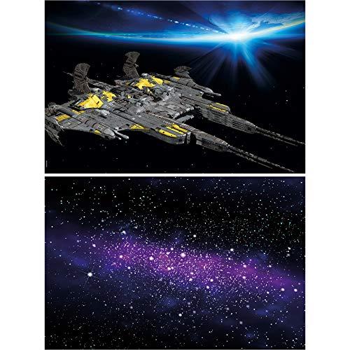 GREAT ART Set di 2 Poster XXL Decorazione Universo murale Navicella Spaziale e Galassia – Missione Spaziale Via Lattea Pianeti Viaggi nello Spazio Carta da Parati Foto (140 x 100 cm)
