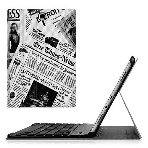 Fintie Blade X1 Samsung Galaxy Tab S 10.5 Bluetooth Tastatur Hülle Keyboard Case - Ultradünn leicht SlimShell Ständer Schutzhülle mit magnetisch abnehmbar drahtloser Bluetooth Tastatur für Samsung Galaxy Tab S T800 T805 (10,5 Zoll) Tablet, Zeitung