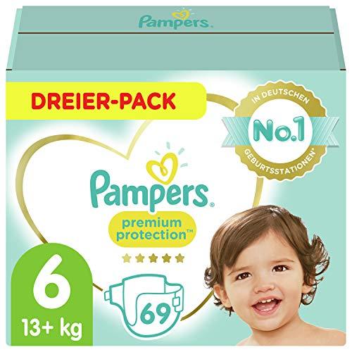 Pampers Baby Windeln Größe 6 (13-18kg) Premium Protection, 69 Stück, Pampers Weichster Komfort Und Schutz