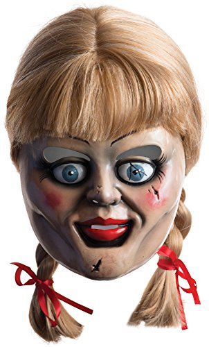 Official Annabelle Doll Mask & Wig Adults Halloween Fancy Dress Costume Accessory by Rubie´s