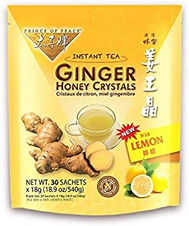 PRINCE OF PEACE Ginger Honey Crystals withlemon 30 Bag, 0.02 Pound - PACK OF 3