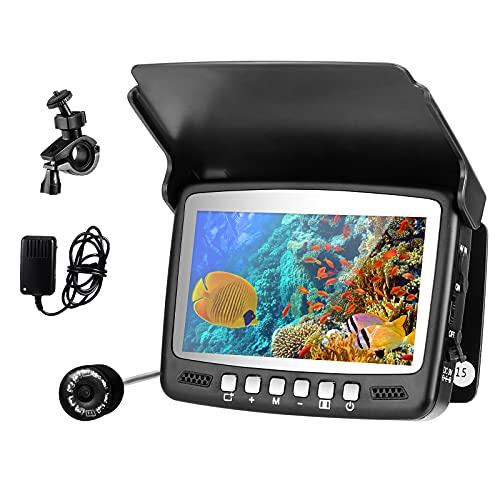 BITOWAT Monitor de Pesca Cámara de Pesca Sumergible Cable 15 M Cámara HD 1000TVL 4.3 Pulgadas Multifunción Usado para Lago, Barco, Pesca en Mar