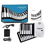 ONETONE ワントーン ロールピアノ 61鍵盤 スピーカー内蔵 充電池駆動 トランスポーズ機能搭載 MIDI対応 OTR-61 (サスティンペダル/日本語マニュアル付属)