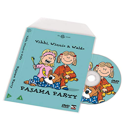 3l 10281 DVD-hoes, transparant, niet geperforeerd, voor het bewaren van ruiten en hoezen - 100 stuks