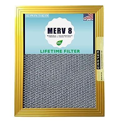CARTER | MERV 8 | HVAC & Furnace Filter | Washable Electrostatic | High Dust Holding Capacity