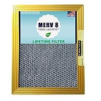 20x25x1 CARTER | MERV 8 | 永久空調設備用エアフィルター | 洗濯可能な静電気 | 高いダスト保持能力 | 他のフィルターを購入する必要はありません