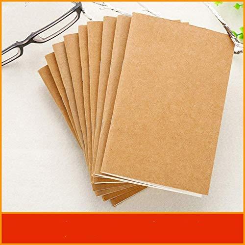 Hecho a mano de cuero auténtico cuaderno de recarga inserciones Reemplazar núcleo interno Sketchbook planificadores 4 Tamaño Diario de viaje Revistas dljyy