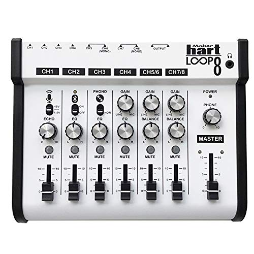 Maker hart Loop Mixer 8 3,5 mm/6,3 mm Klinke/Bluetooth/Phono EQ Vorverstärker/Mikrofonkompatibilität/Audio-Mixer