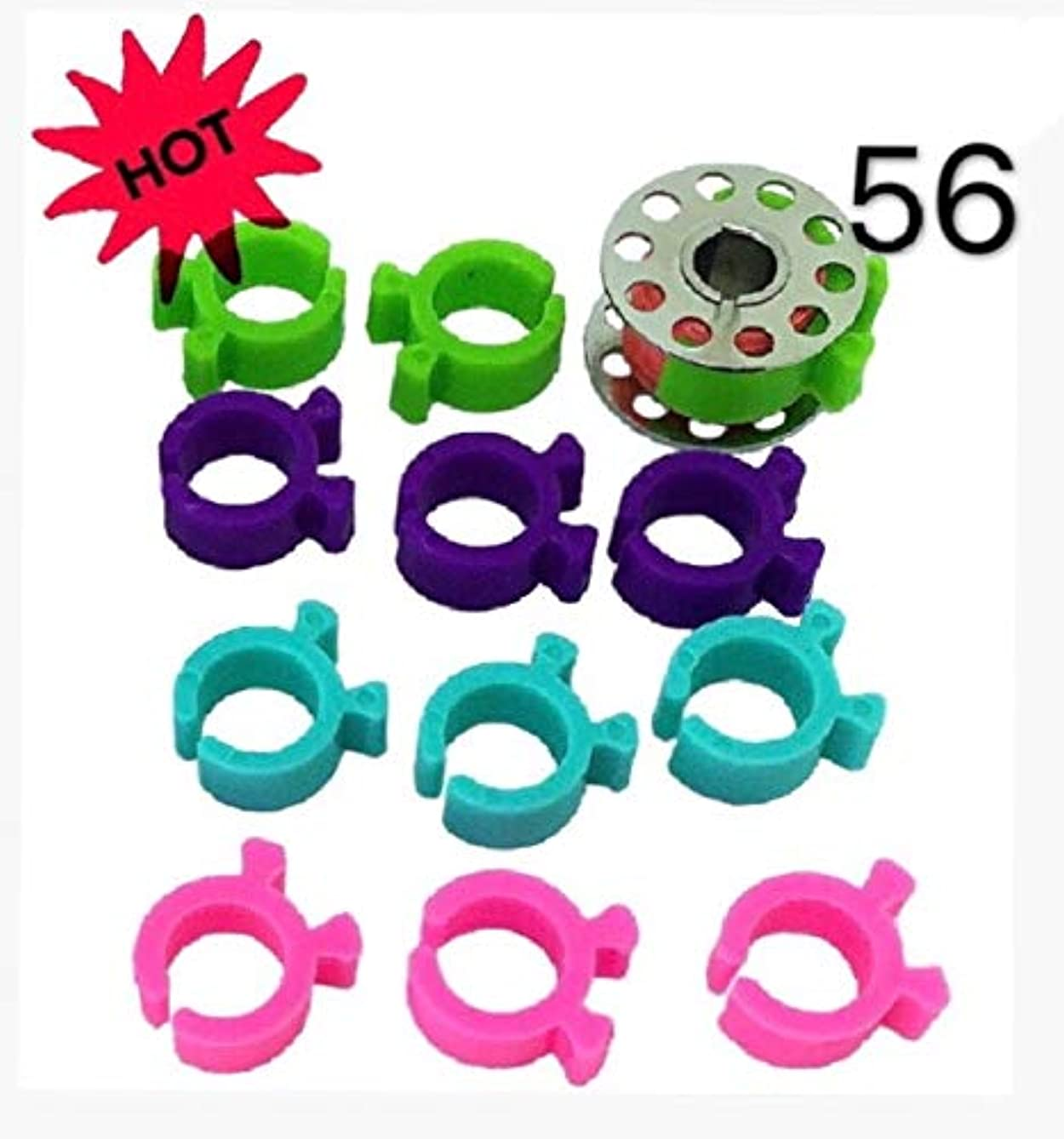 56 Pcs Bobbin Clips Holders Clamps Bobbin Buddies Great for Embroidery Quilting and Sewing Thread Sewing Machine PeavyTailor