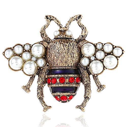 styleinside Trois Dimensions Perle Abeille Broche Broches Rétro Cute Bee Animal Broches Bijoux, Couleur