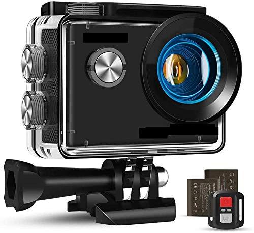4K 16MP acción impermeable cámara Wifi remoto micrófono y estabilización externa tiempo transcurre y la batería recargable 2 a la epidermis y tablas de snowboard