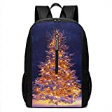 Christmas Tree Theme 17 Inch School Bag Backpack College Bag Laptop Backpack Large