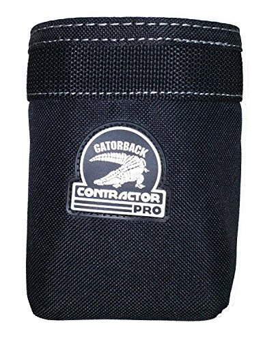 Contractor Pro Open Add on Pouch for Tool Belts, Tool Pouches and Tool Bags. Large Pouch By Gatorback for Electrician, Carpenter, Contractor, Dry Waller, Etc