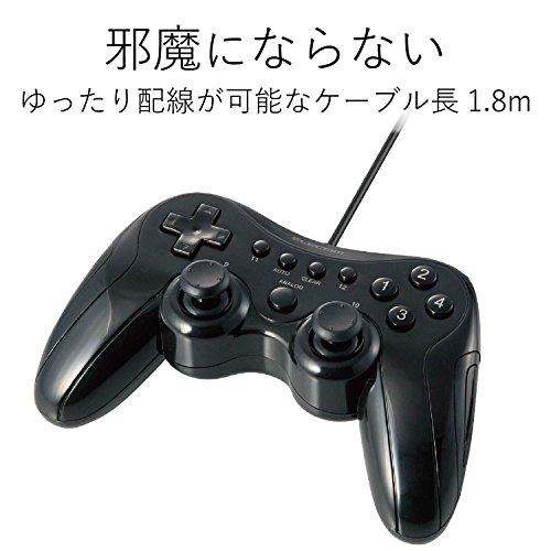 エレコムゲームパッド高耐久ボタン(日本メーカー製)採用300万回耐久試験クリア12ボタン振動・連射機能搭載ブラックJC-FU2912FBK