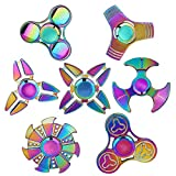 SCIONE Metal Fidget Spinner 7 Pack Stainless Steel...